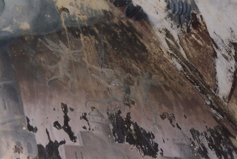 peinture monumentale: le Jugement dernier, détail