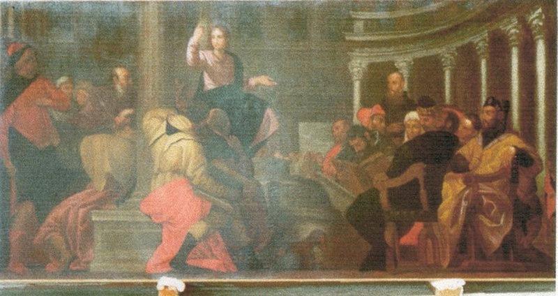 Tableau : Jésus enseignant dans le Temple