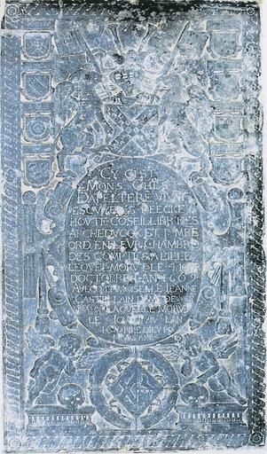 Dalle funéraire de Charles d'Appelteren et de Jeanne Castelein