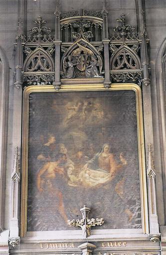 Tableau et son cadre : L'Adoration des bergers