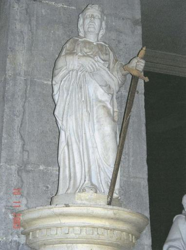 Statue : Saint Paul, marbre blanc, 17e siècle