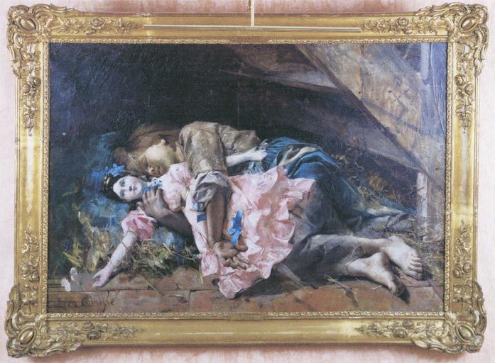 Tableau et son cadre : Cosette