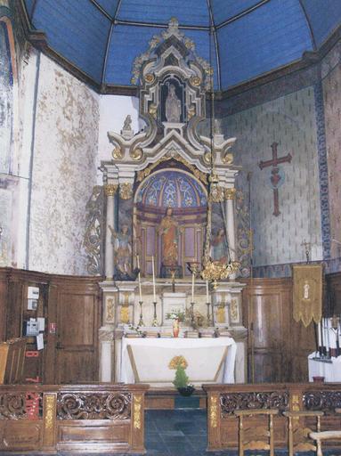 Ensemble de l'autel retable de saint Nicolas