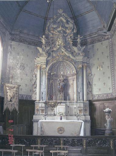 Ensemble de l'autel retable de la Vierge