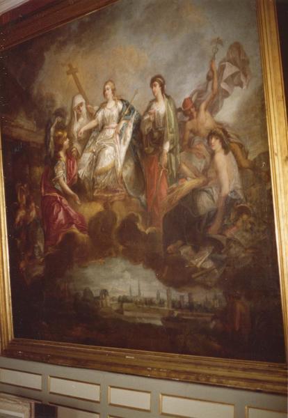 Tableau : France recevant l'hommage des états du Hainaut en 1789 (la)