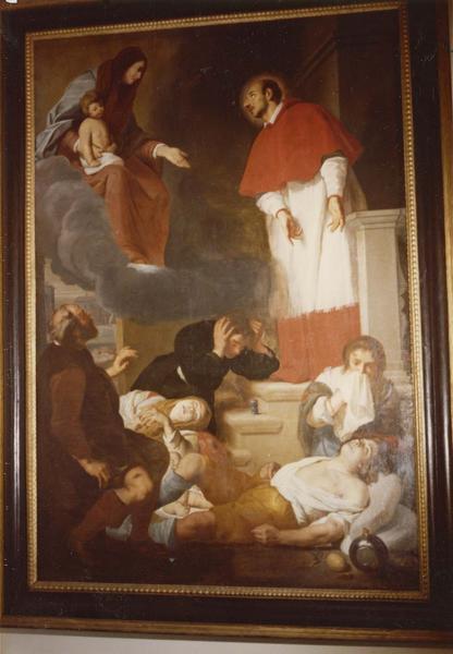 Tableau : Saint Charles Borromée intercédant auprès de la Vierge en faveur des pestiférés