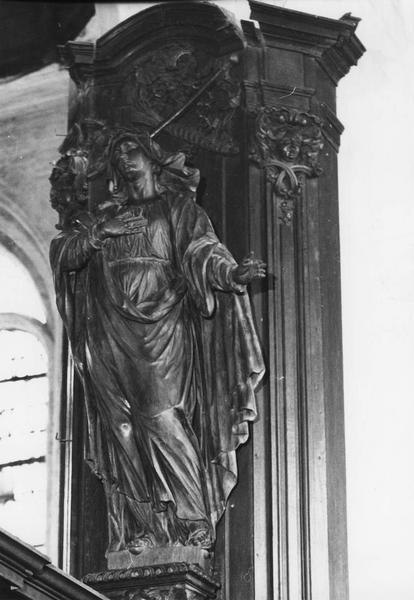 Statue : Vierge de douleur (en pendant)