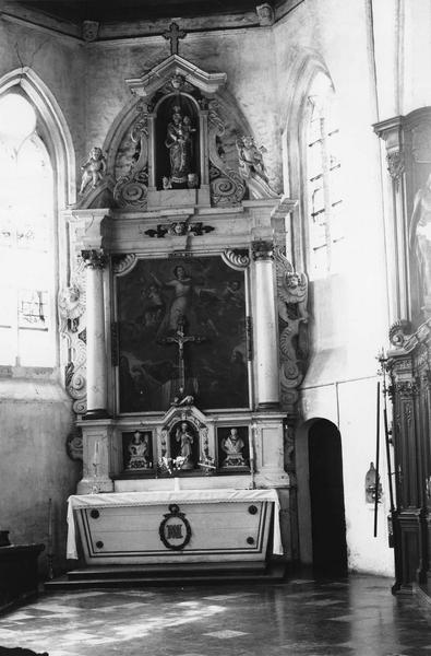 Autel, retable de la Vierge