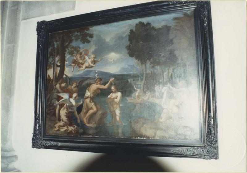 Tableau, cadre : le Baptême du Christ, vue générale