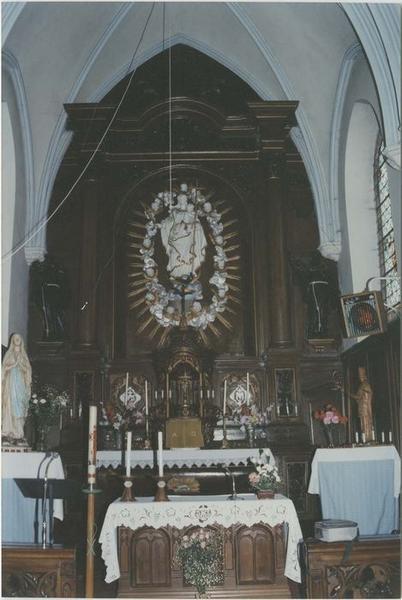 Maître-autel (autel, retable, tabernacle, exposition), vue générale