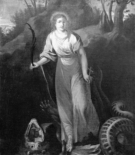 Peinture sur toile : sainte Marguerite