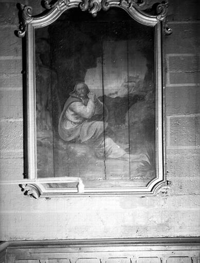 Panneau peint provenant du retable de saint Pierre, cadre du 18e siècle : Repentir de saint Pierre