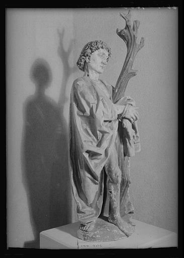Statue en bois : saint Sébastien