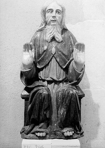 Trinité en bois polychromé :  Dieu le Père