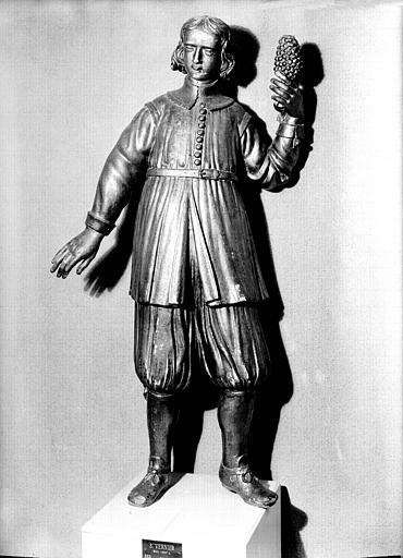 Statue en bois doré : saint Vernier