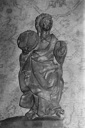 statue de la sibylle Erythrée, bois, provenant du buffet du grand orgue