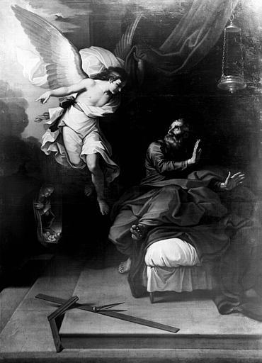 Tableau : Ange ordonnant à Joseph de prendre la fuite (l')