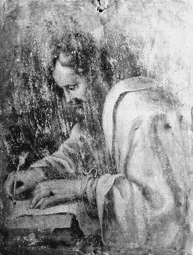 Peinture sur cuivre : Docteur de l'église