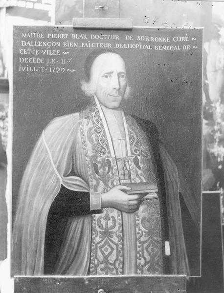 tableau : Portrait de l'abbé Pierre Bélard, cadre, vue générale