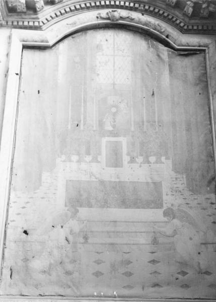 tableau du retable latéral nord : Deux anges en adoration, vue générale