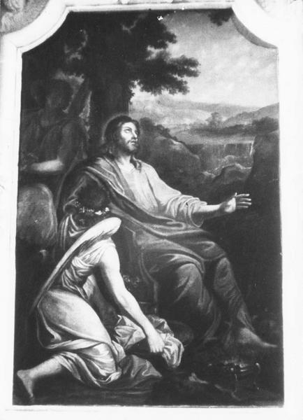 Tableau : Jésus servi par les anges