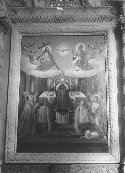Tableau : Messe de saint Grégoire le Grand