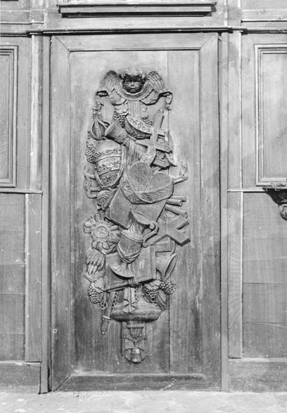 portes de sacristie (panneaux remployés), vue générale