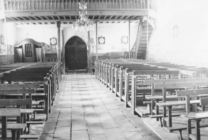 banc de fidèles (24), vue générale