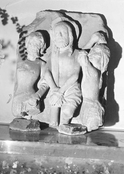 groupe sculpté : Christ aux outrages, vue générale