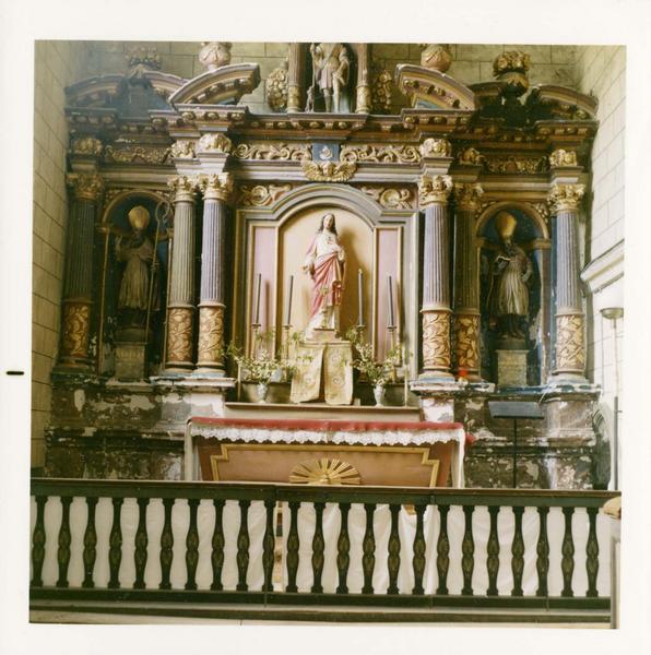 retable du collatéral nord, statue : Saint Roch, vue générale