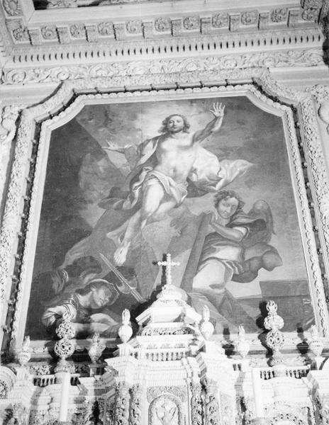 tableau du retable du maître-autel : Résurrection (la), vue générale