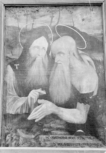 tableau : Saint Antoine et saint Paul, vue générale