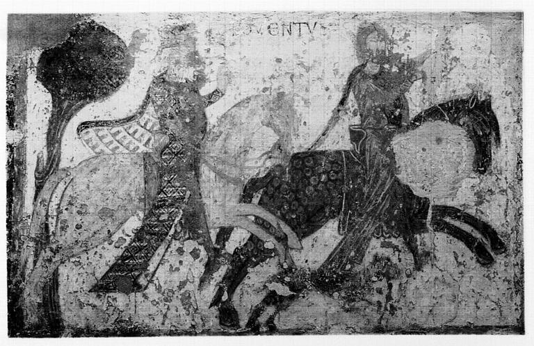Peinture murale : fragment de la vie de saint Gilles