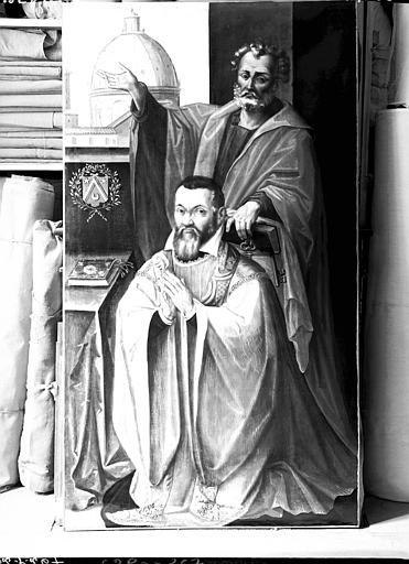 2 volets de polyptyque : Renobert Chevroton, abbé de Montbenoit, et Pierre Chevroton, capitaine d'Ornans