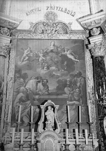 Peinture sur toile située au maître-autel : L'Assomption