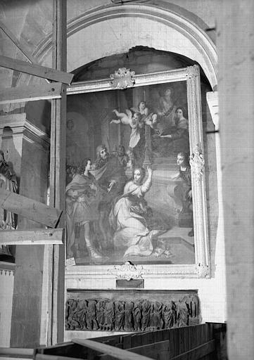 Tableau : sainte Cunégonde et sainte Cécile