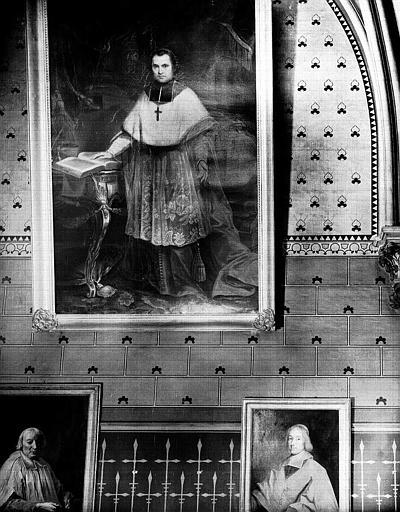 tableau : Portrait en pied de Monseigneur Affre