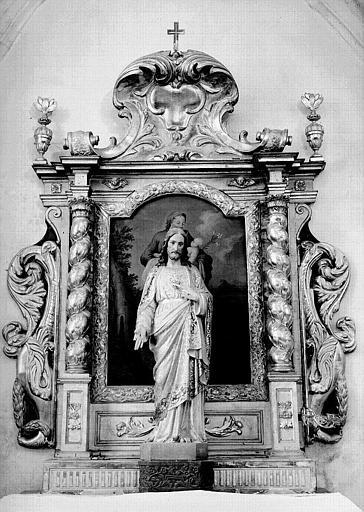 Retable de saint Joseph, en bois sculpté
