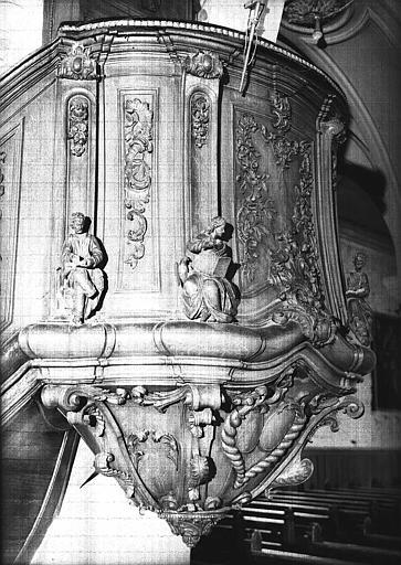 Chaire à prêcher en bois sculpté (cuve)