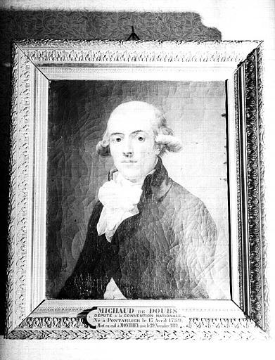 Peinture sur toile : Portrait du Conventionnel Michaud