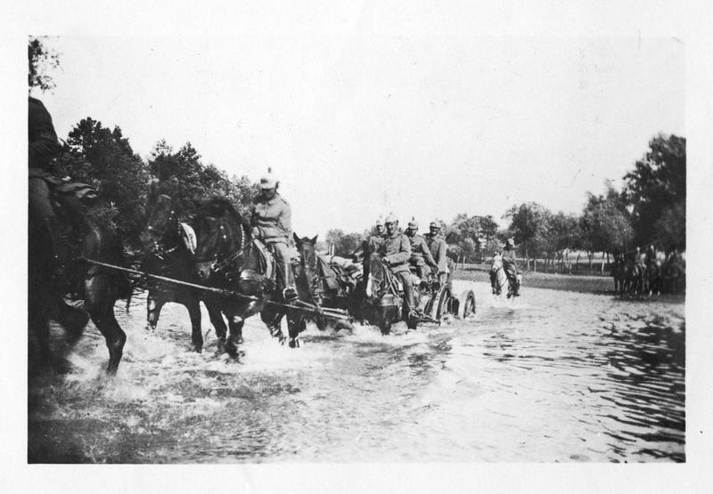 Artillerie allemande en Pologne russe