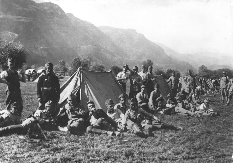 Chasseurs impériaux tyroliens au repos