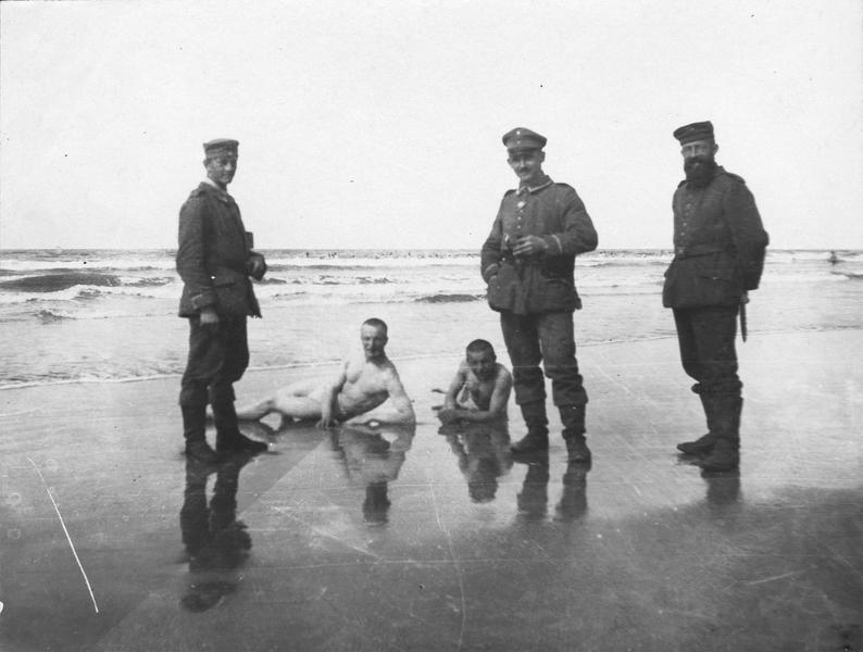 Le bain des soldats allemands