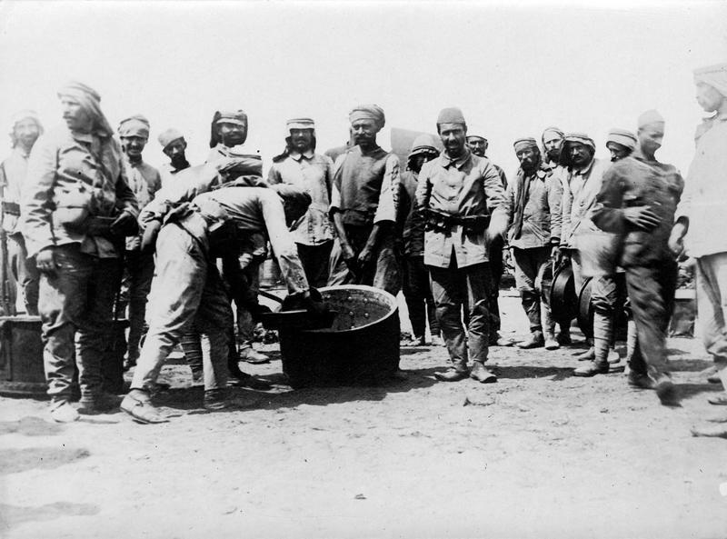 Armée turque. Cuisine de soldats au cantonnement