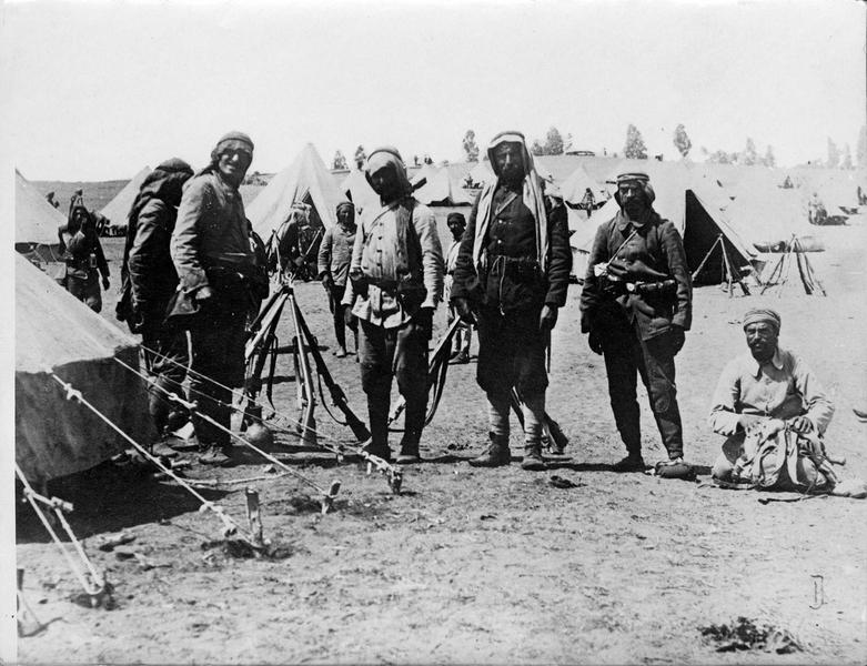 Camp turc dans les environs du Canal de Suez