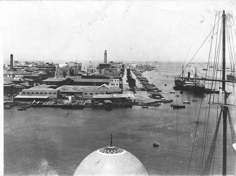 Port-Saïd et l'entrée du Canal de Suez