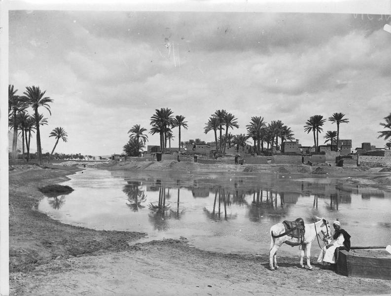 Village au bord du Nil, près du Caire