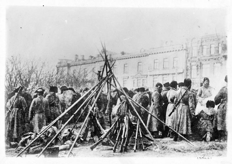 Guerre européenne. Les cosaques occupés en Prusse orientale