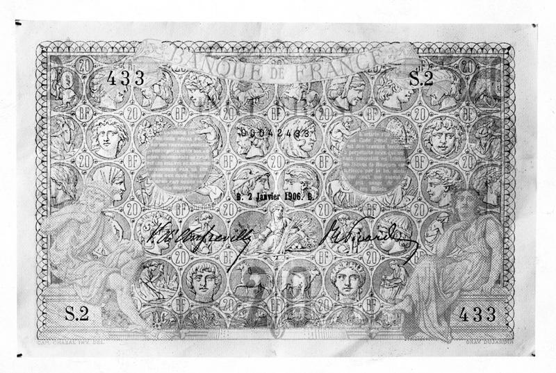 En prévision de la Guerre. Nouvelle coupure de vingt francs mise en circulation afin de faciliter les transactions