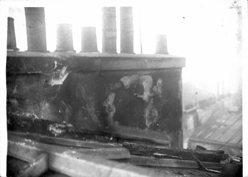 Bombe lancée par un Zeppelin, rue Dulong à Paris